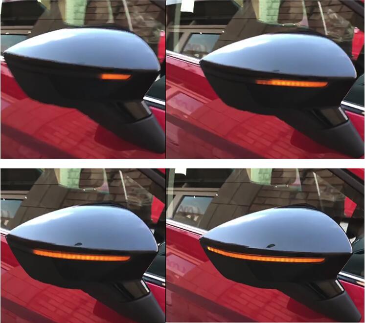 2x LED DYNAMIC MIRROR INDICATORS REPEATERS PAIR SEAT LEON 3 III 5F ITV MOT Side Mirror