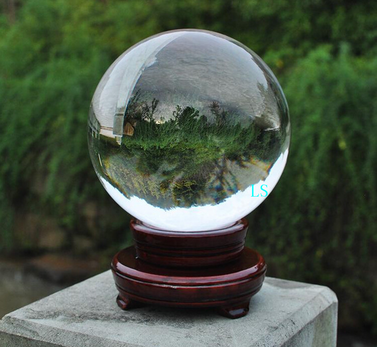 Aliexpress buy crystal ball wholesale with wooden
