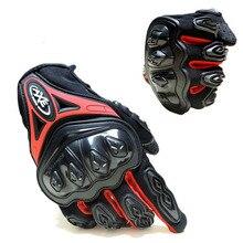 Pantalla táctil guantes de moto al aire libre respirable guantes de protección guantes de moto completa dedo-motocicleta equipo de protección