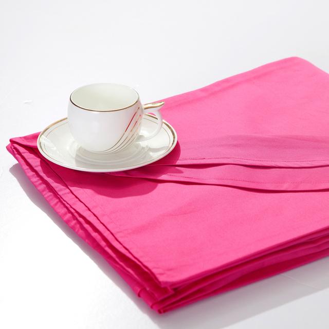 Singleplayer 100% textile cotton bed sheets double 100% cotton coverlet solid color plain rose bedding