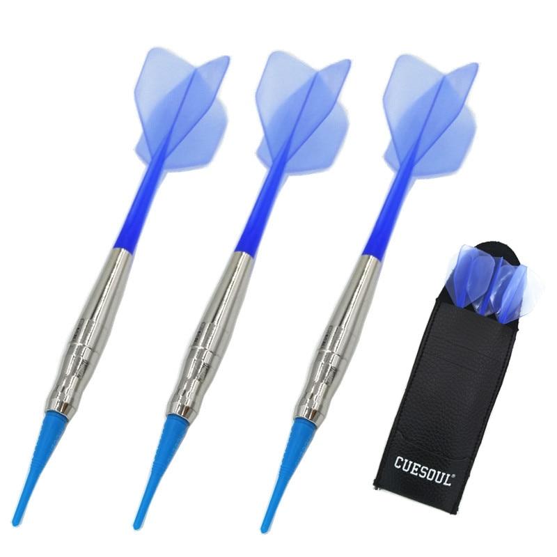 3 шт./компл. синий мягкий наконечник Дартс Медь электронный Дартс с 2BA винт мягкой в одном Полета Дротика анти- осень