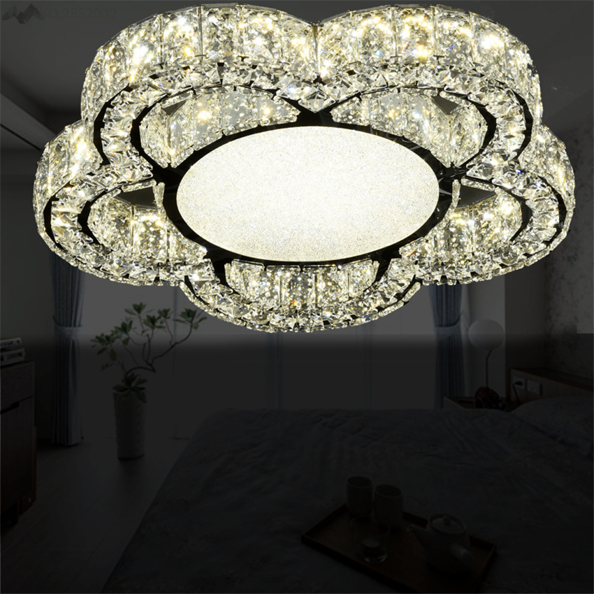 Luxury European Ceiling For Modern Home: LFH New Luxury Modern Flower Crystal Ceiling Lamps Crystal