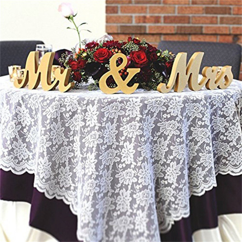 3pcs Gold Powder MR & MRS Letters Ornaments DIY Festival Party Wedding Wooden Signs Home Party Decoration