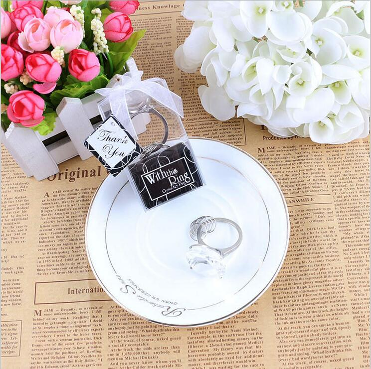 10pcs Home Party Favor Supply Heart Shaped Crystal Ring Baby Shower