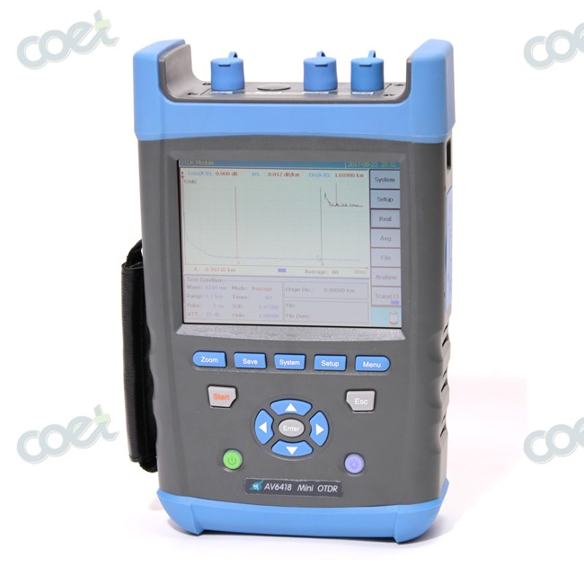 6.5 inch Touch Screen PON OTDR AV6418 1310/1550/1625nm 42/40/38dB OTDR Tester Fiber Optic OTDR Can be remotely operated6.5 inch Touch Screen PON OTDR AV6418 1310/1550/1625nm 42/40/38dB OTDR Tester Fiber Optic OTDR Can be remotely operated