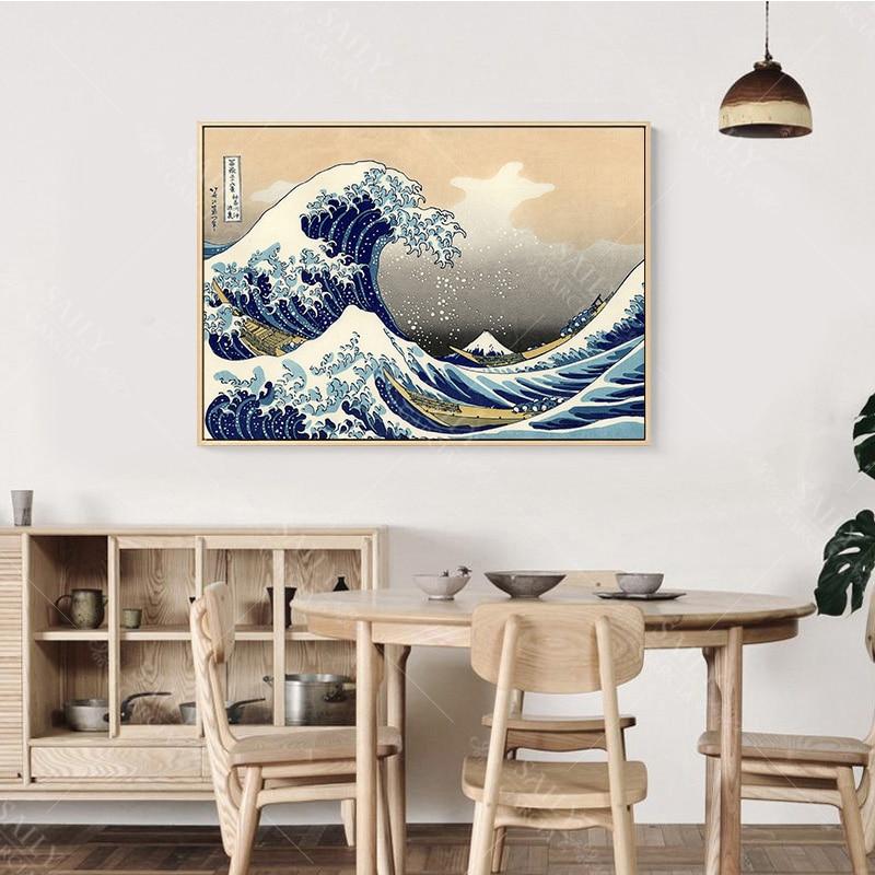 Hd Print Canvas Paintings Japanese Style Traditional Posters Wave Kanagawa Vintage Wall Art Picture For Living Hd Print Canvas Paintings Japanese Style Traditional Posters Wave Kanagawa Vintage Wall Art Picture For Living Room Home Decor