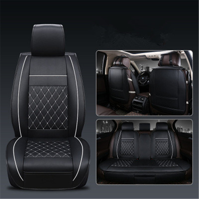 1/set PU Leather car seat covers For Toyota Corolla Camry Rav4 Auris Prius Yalis Avensis SUV auto accessories car sticks Automobiles Seat Covers     - title=