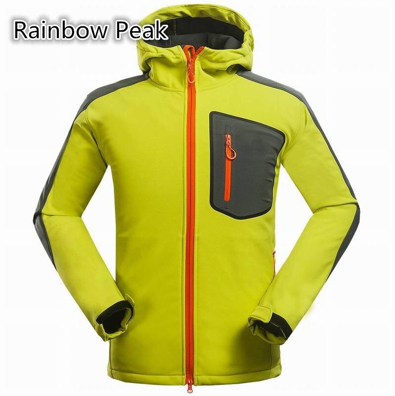 ФОТО Direct Soft Shell Jacket Men's outdoor hiking jacket Composite velvet Fleece lining thermal Waterproof coat skiwear Windbreaker