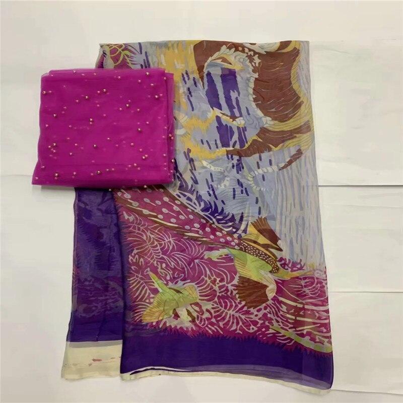 African morbido tessuto di seta per abbigliamento neat ricamo sul gold & viola materiale raso con merletto svizzero del voile tissu LXE071705-in Tessuto da Casa e giardino su  Gruppo 3