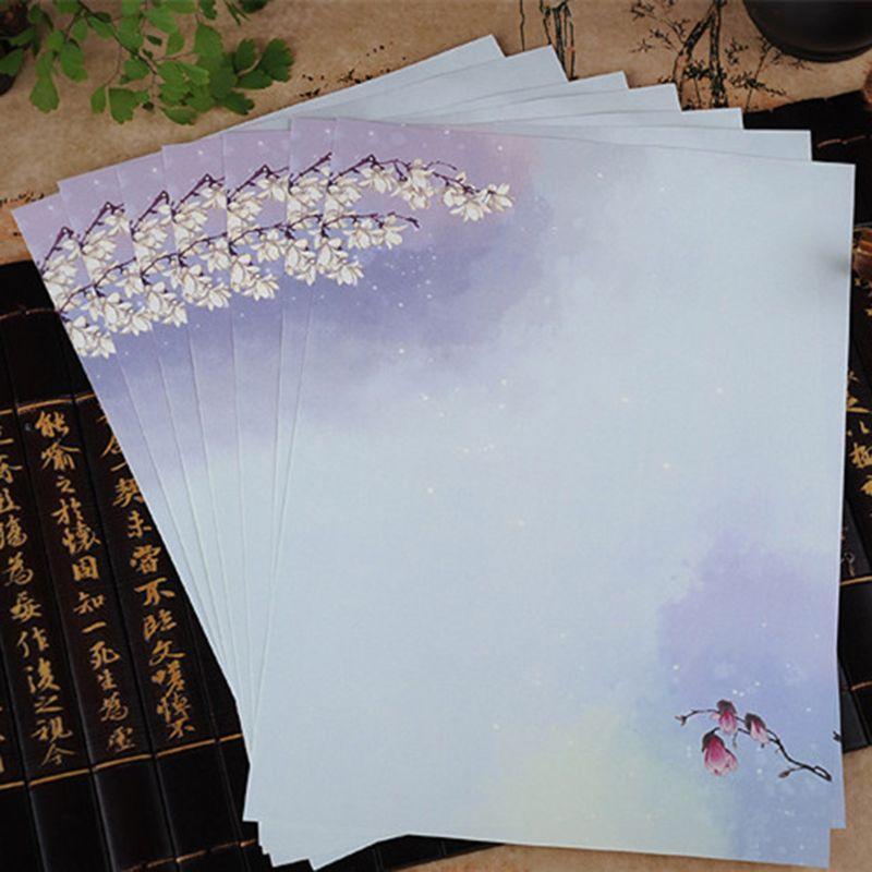 16 шт./упак. красивый китайский стиль Письмо бумага живописи тушью письма студентов канцелярские инструменты