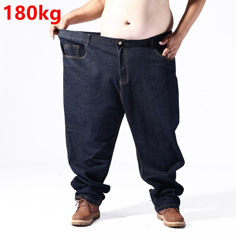Big size jeans men Super size 180kg pants elastic waist elastic smart casual loose pants oversize 8XL 7XL 5XL