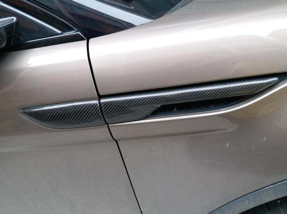 2pcs Accessories High Quality Carbon Fiber Fender Trim Cover For Land Rover Range Rover Evoque 2012