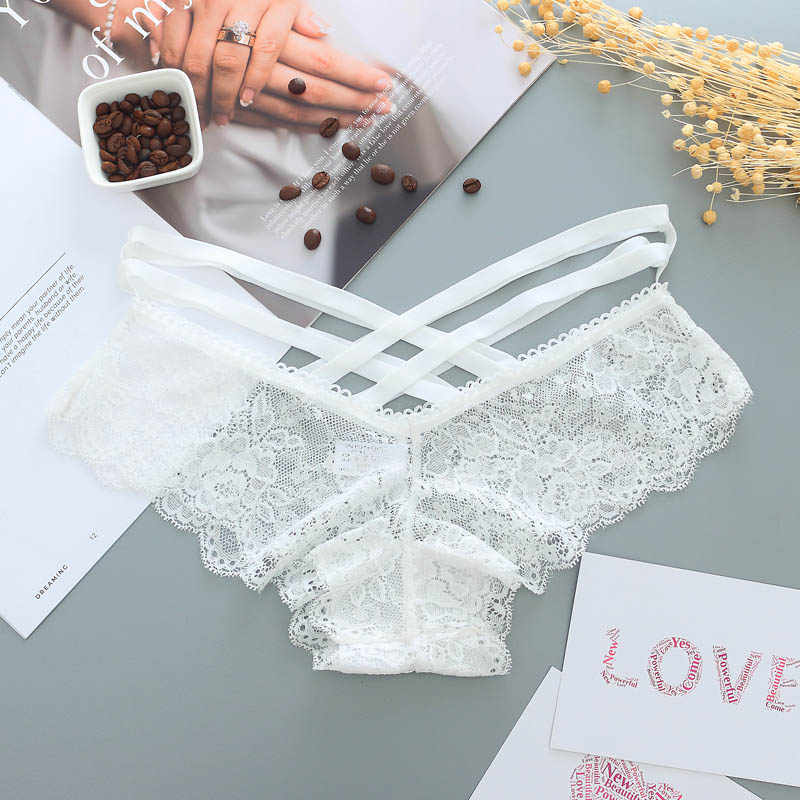 22b0e6031f ... Sexy Panties Women Lace Low-rise Solid Sexy Briefs Female Underwear  Pant Ladies Cross strap ...