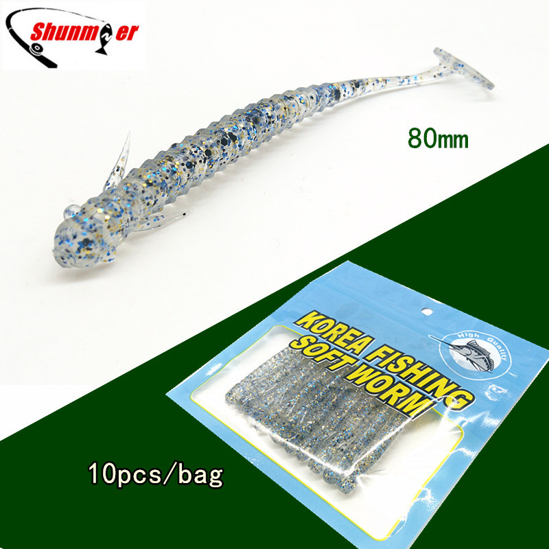 где купить SHUNMIER 10pcs 2g 80mm Fishing Lures Pesca Fish Peche Wobblers Leurre Souple Isca Artificial Soft Baits Vissen Crankbait Carp по лучшей цене