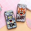 New Cartoon Relief Tom Jerry Doraemon cat Phone case for iPhone 7 7plus for iPhone 6 6s 6plus 6splus Anti-drop back cover