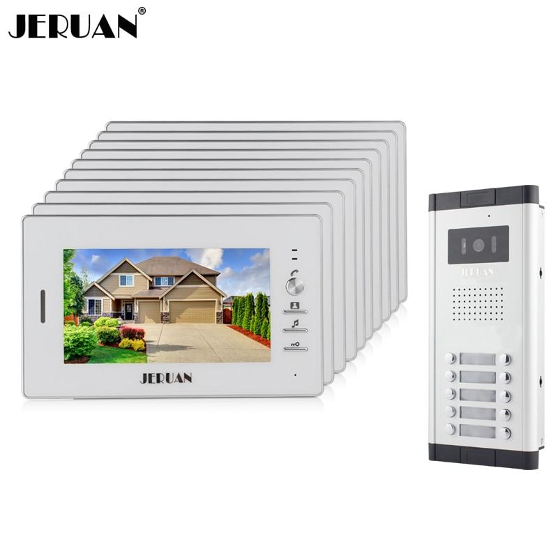 jeruan wholesale apartment 7 video intercom door phone