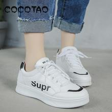 Shoes 2019 New Sports Women Summer Breathable Leisure Baitao Ins Chao Muffin Thick-soled Flat-soled Small White18