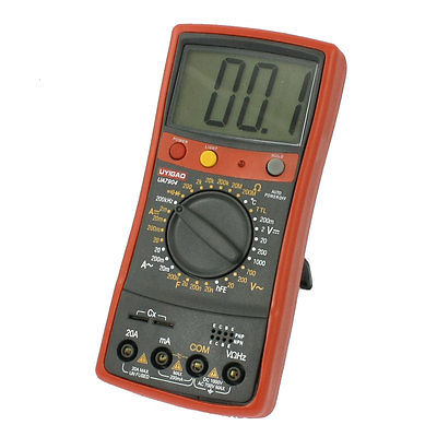Black Red UA7904 Volt Amp Ohm Meter Digital Multimeter w 2 Test Leads 2w 33 ohm axial leads 5