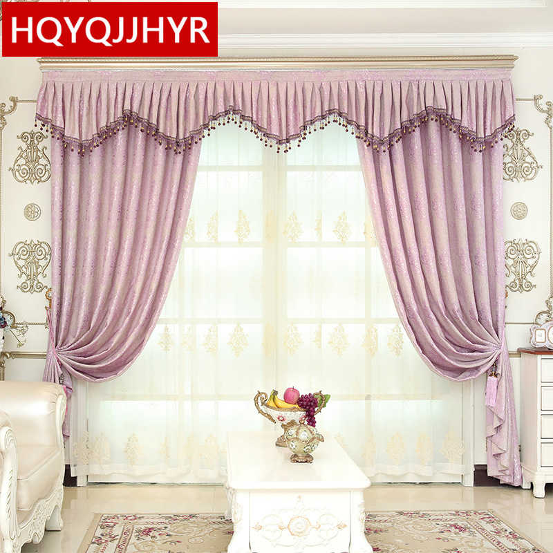 Classic European jacquard blackout curtains for Living Room windows  high quality Made in China villa curtains for Bedroom