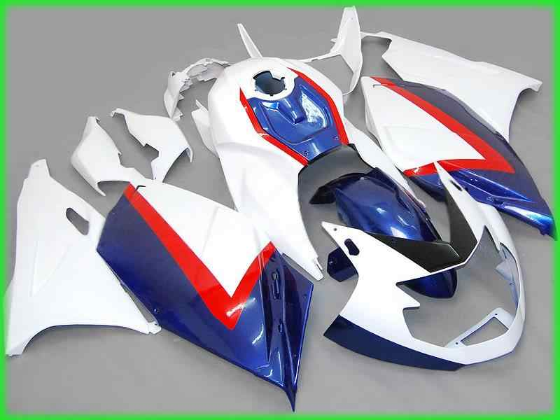 Motorcycle Fairing kit for BMW K1200S 05 06 07 08 K1200 S 2005 2006 2007 2008 ABS White blue red Fairings set+Gifts BA15
