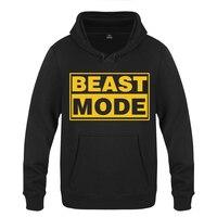 Beast Mode Creative Personality Hoodies Men 2018 Men's Pullover Fleece Hooded Sweatshirts