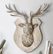 35*29*11CM Creative three-dimensional animal head mannequin deer wall hanging living room Shield Wedding craft Resin 1PC A328