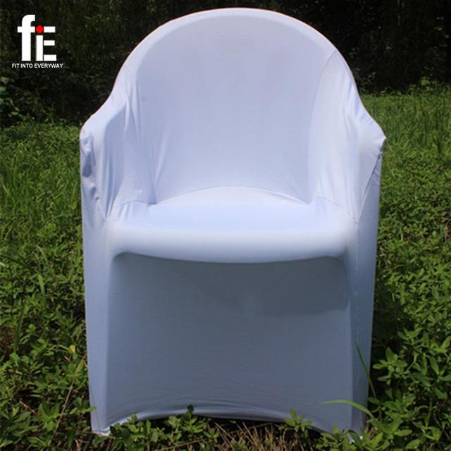 Polyester Spandex Lycra Arm Chair Cover Plastic Beach Chair Coverings Stall  Elastic Chairs Siamese Wedding Banquet