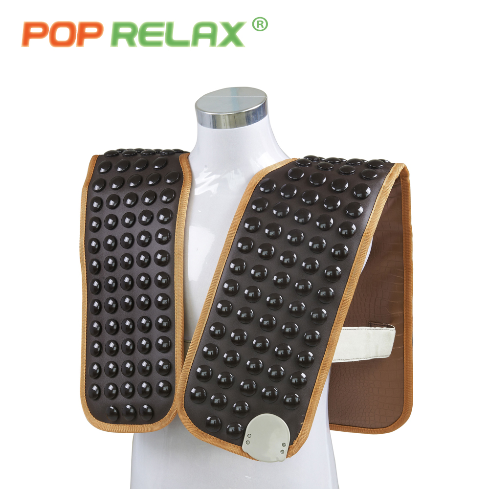 POP RELAX 110V tourmaline stone belt thermotherapy waistcoat cervical shoulder back pain relief infrared back spine heating mat pop relax healthy electric heating therapy cervical belt tourmaline products physiotherapy device mat shoulder back massage belt