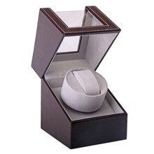 Коробка для наматывания часов из искусственной кожи, регулируемая Антистатическая Бесшумная Автоматическая Механическая коробка для хранения подарков