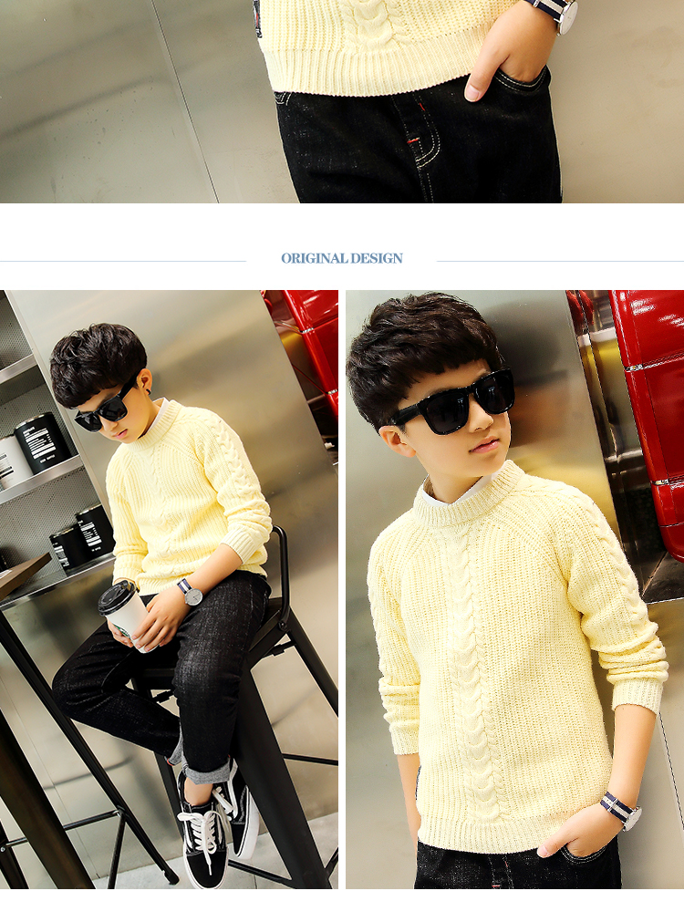 HTB12zDKedXXWeJjSZFvq6y6lpXai - 2019 winter children's clothing Boy's clothes pullover Sweater Kids clothes Cotton products Keep warm Boy sweater Thicker