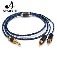 ATAUDIO Hifi Silver Plated 4.4mm Balanced to 2 RCA Male Audio Cable For Sony NW WM1Z 1A MDR Z1R TA ZH1ES PHA 2A
