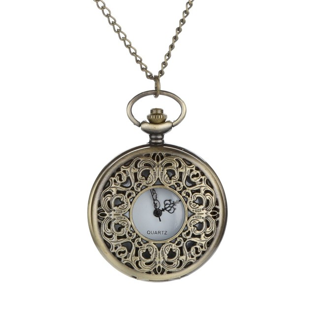 2019 News Arrival Fashion Personalized Pattern Steampunk Vintage Quartz Roman Numerals Pocket Watch 12.14