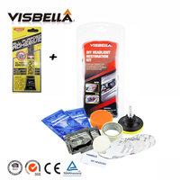Visbella Fix Foggy And Cloudy Headlight Lamp Lens Cleaning For Motocycle Headlamp Restoration DIY Kit Car