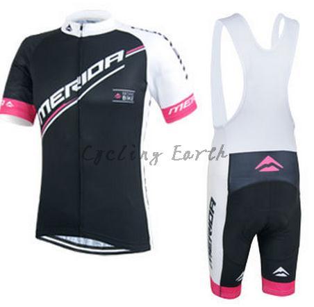 цена на Hot sale! Merida 2015 #3 women short sleeve cycling jersey bib shorts set bike clothes jersey pants,gel pad,3D Silicone!