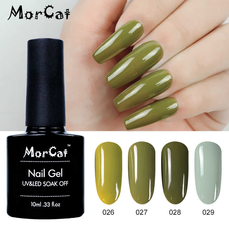 MorCat Gel Nagellak Groene Serie voor Lente Nail Art Design UV Gel Varnish Soak Off Nail Gel Polish Vernis semi Permanente