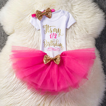 Baby Girl Birthday Clothes Dresses 1 Years Short Sleeve Tutu Headband Baptism Infant Party Dress First Christening Costume newborn baby girl lace dress baptism sets baby gown christening dresses first communion infant birthday party wear for 0 2 years