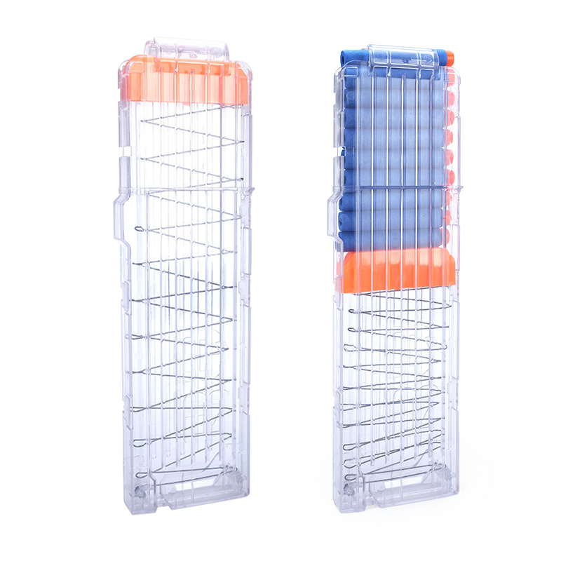 Universal 18/612 Reload Clip Magazines Gun Bullet Clip Replacement Plastic Magazines Toy Gun Soft Bullet Clip For Nerf