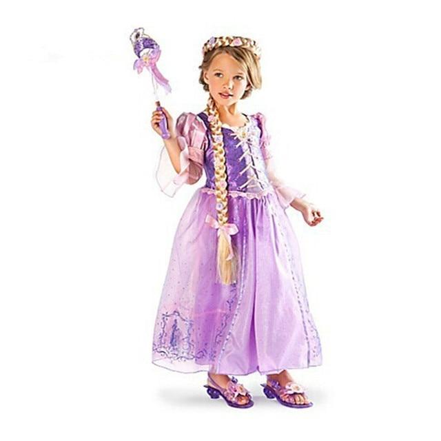 gamma completa di specifiche promozione miglior prezzo 2019 Estate Rapunzel gioco di ruolo Per Bambini Abiti Per Il Giorno dei  bambini Del Vestito Da Partito di Carnevale del Costume Delle Ragazze Dei  ...