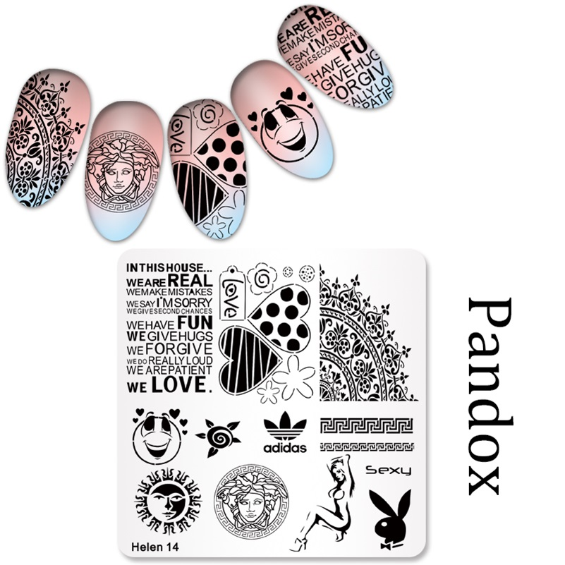 Image 5 - 2019 New Series Nail Stamping Plates DIY Image Konad Nail Art Manicure Templates Stencils Salon Beauty Polish Tools-in Nail Art Templates from Beauty & Health