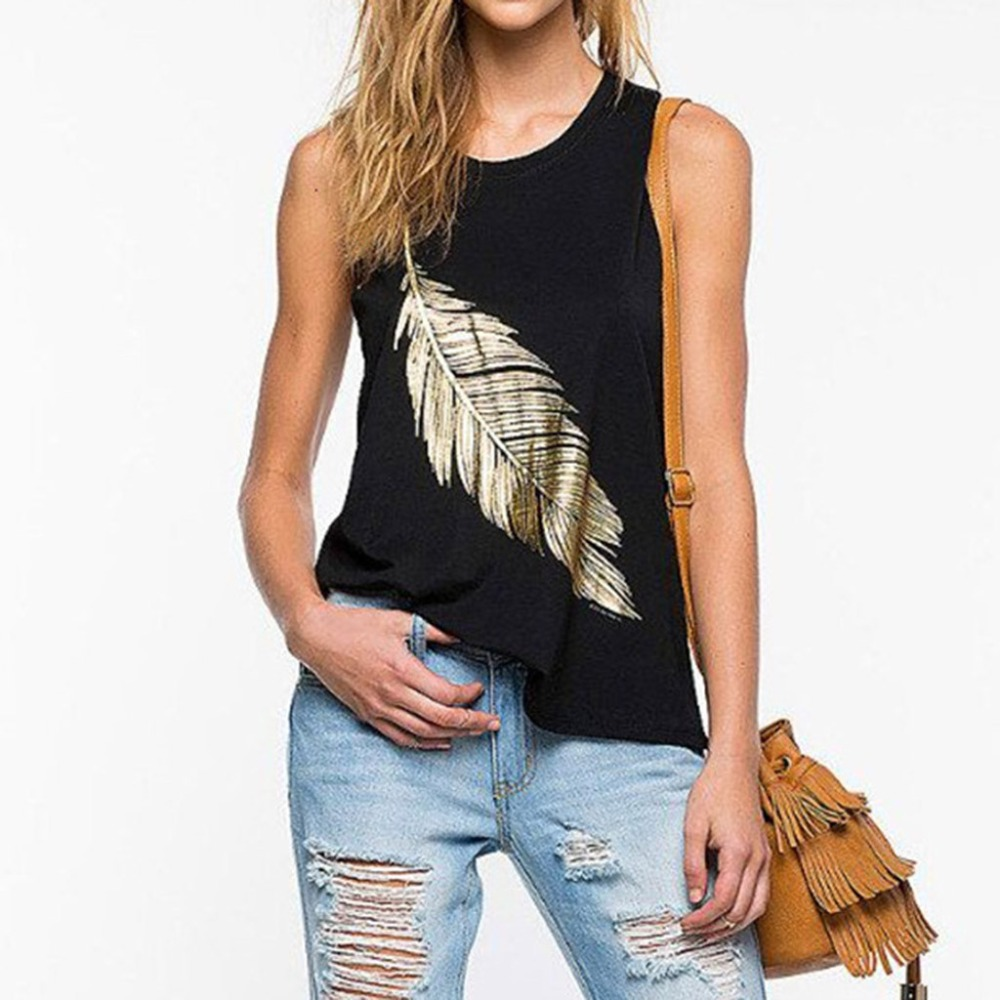 2019 Women Solid Sexy U Neck Print Strapless Vest Sleeveless Tank Top Top Mujer Haut Femme Dropshipping #328 Numerous In Variety