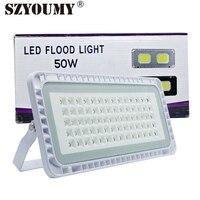 Szyoumy cob led refletor 300 w led projector ip65 à prova dwaterproof água para casa jardim parque iluminação do edifício dhl frete grátis