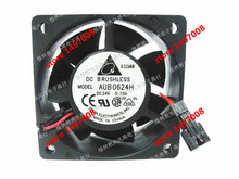 Free Shipping For DELTA AUB0624H DC 24V 0.18A, 2-wire 2-pin 60mm 60x60x25mm Server Square cooling fan