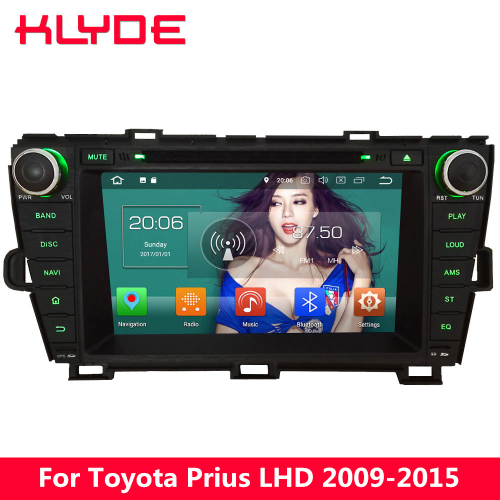 KLYDE 4G Android 8 Octa Core 4GB RAM 32GB ROM Car DVD Multimedia Player For Toyota Prius LHD 2009 2010 2011 2012 2013 2014 2015