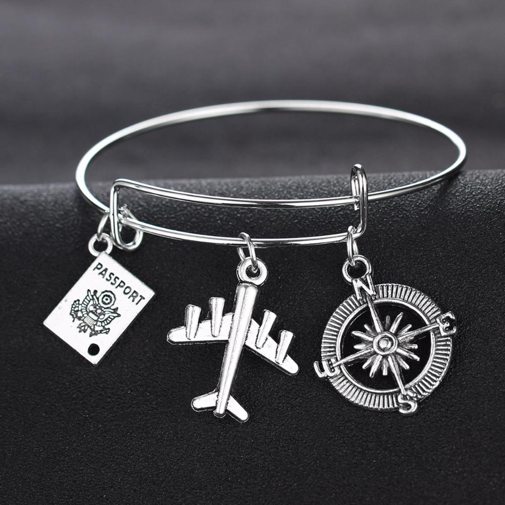World Traveller Necklace, Bangle and Keychain