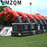 Familay gathering activities soap inflatable football field for kids / free air shipping inflatable soccer field with flooring