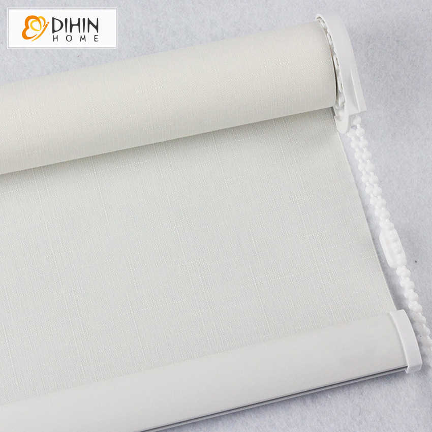 Hot Sales Included Curtains 45-50% Blackout Thicking Roller Shutter Double Layer Shade Blinds Half Blackout Finished Curtain