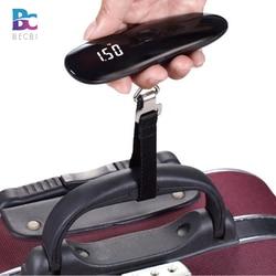 BECBI Luggage Scale 50kg x 50g Mini Portable Electronic Weight Hanging Steelyard Hook Scale Digital Suitcase Travel