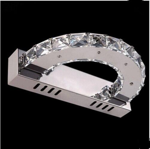 Moderna Casa de Banho Espelho de Parede de Cristal Arandela Luz CONDUZIDA Da Parede Para Casa Lâmpada de Iluminação Interior Lampe Murale Lampara - 2