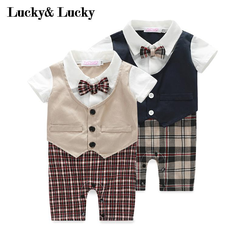 Tuxedo baby clothes short sleeve baby boy clothes summer newborn jumpsuit 3pcs set newborn infant baby boy girl clothes 2017 summer short sleeve leopard floral romper bodysuit headband shoes outfits