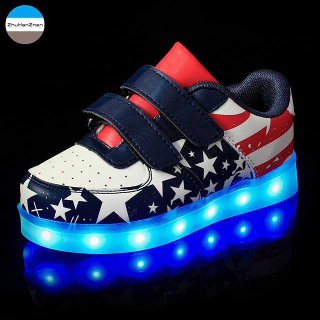 ff3b48b88cb183 2018 LED lights up children casual shoes 3 to 15 years old glowing kids  sneakers baby boy and girl flat dancing shoes fashion